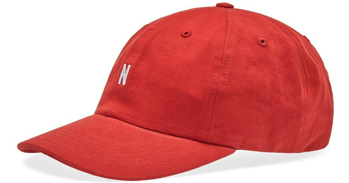 b58fad7ad32 Norse Projects Twill Sport Cap in Red for Men - Lyst