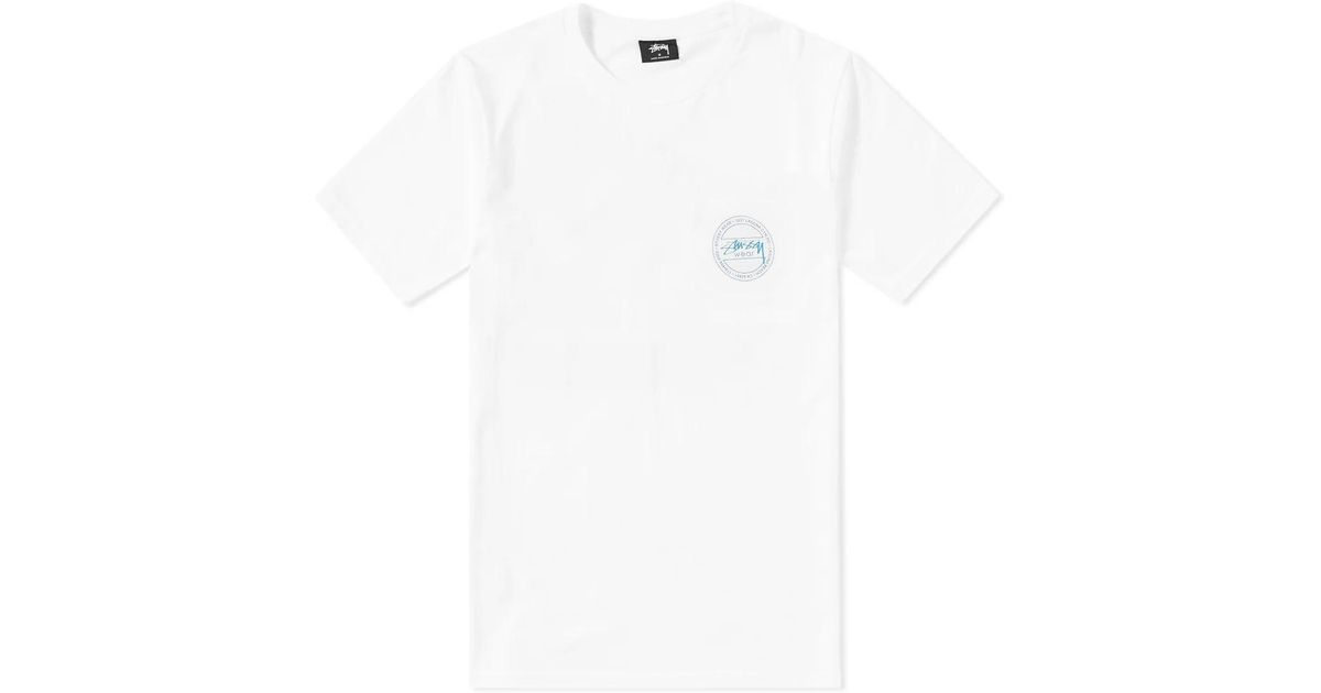 55c78617cec Lyst - Stussy Laguna Dot Tee in White for Men
