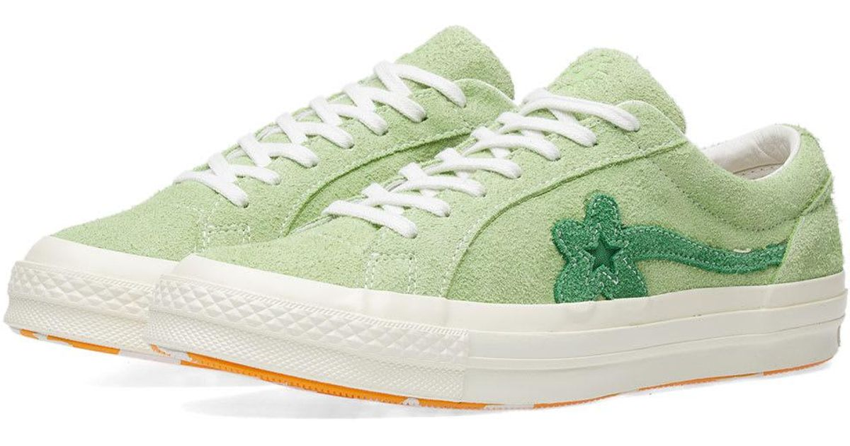 Converse Suede X Tyler Golf Le Fleur One Star In Green For Men Lyst