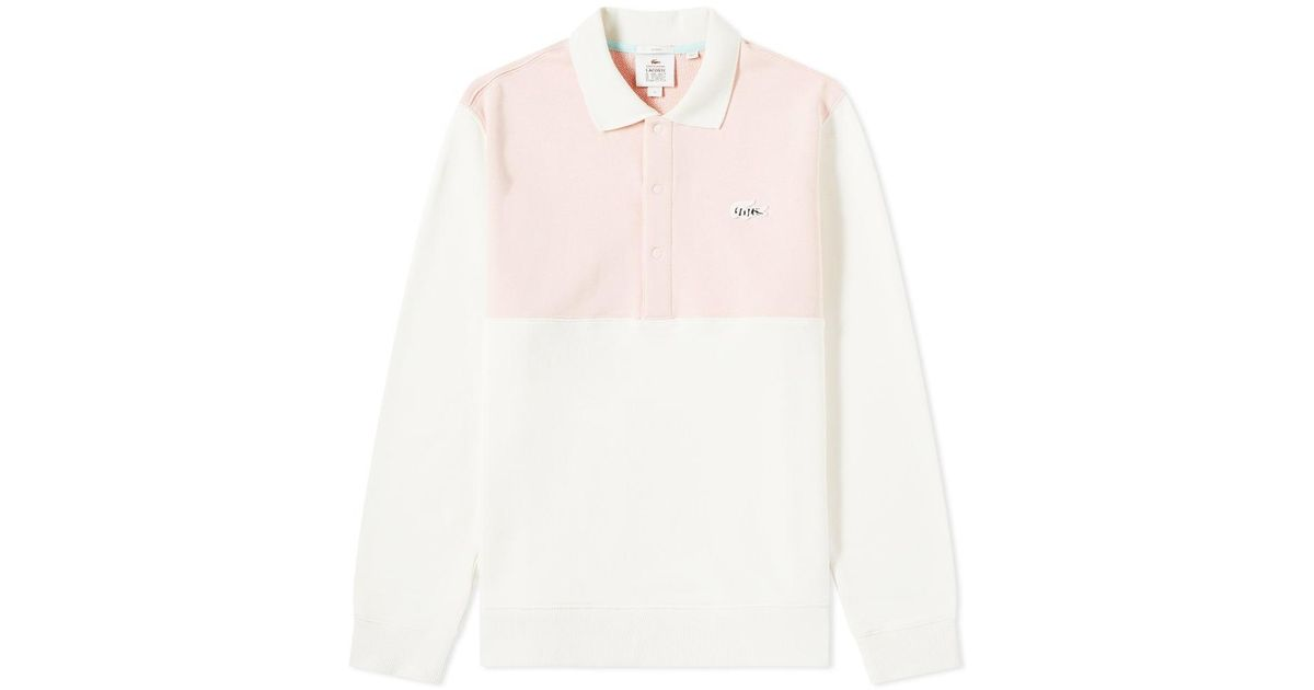 629162e1 Lacoste Pink X Golf Le Fleur Long Sleeve French Terry Polo for men