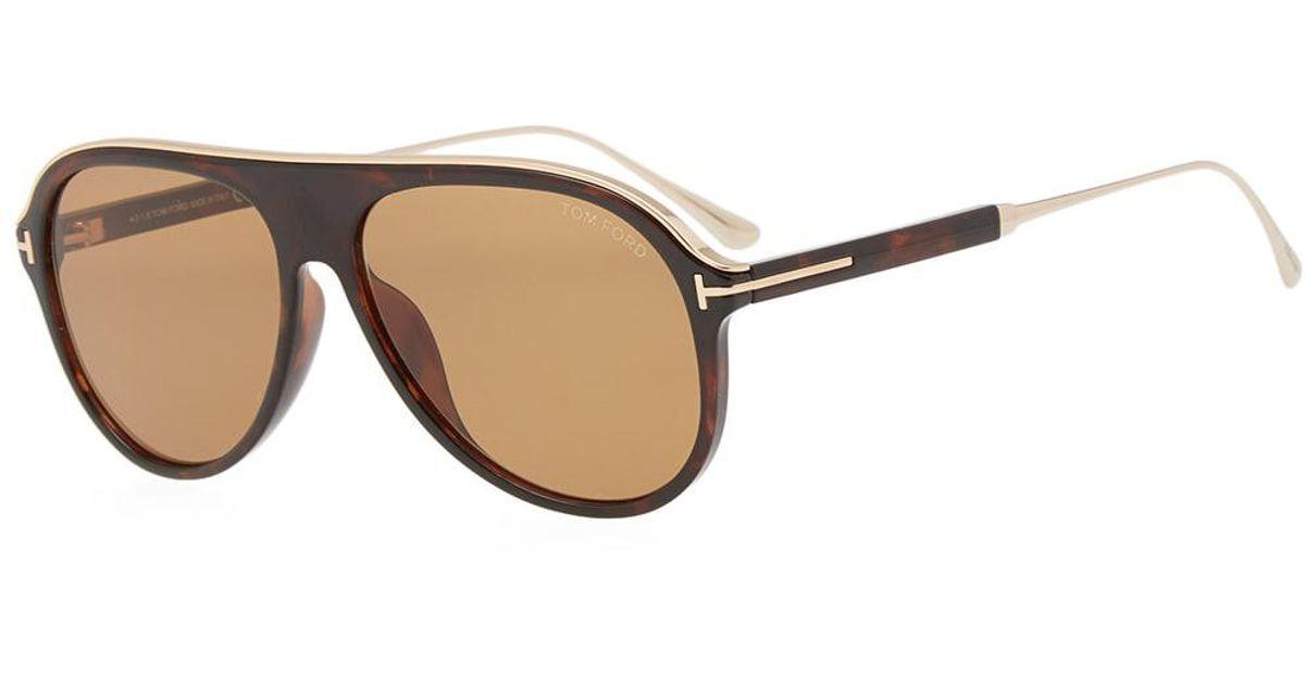01e260193729e Tom Ford Tom Ford Ft0624 Nicholai-02 Sunglasses in Brown for Men - Lyst