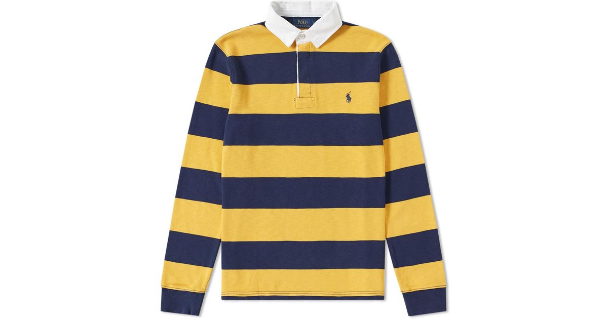 Rugby Long Iconic For Yellow Shirt Polo Men Lauren Sleeve Ralph mOyv80wNn