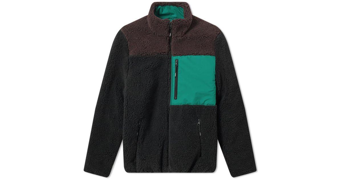 4517754175 KENZO Sherling Fleece Jacket in Black for Men - Save 23% - Lyst