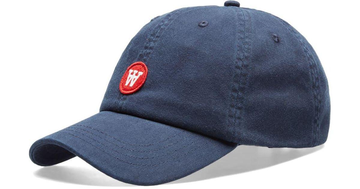 Lyst - WOOD WOOD Aa Low Profile Cap in Blue for Men ffeed4aa96c3