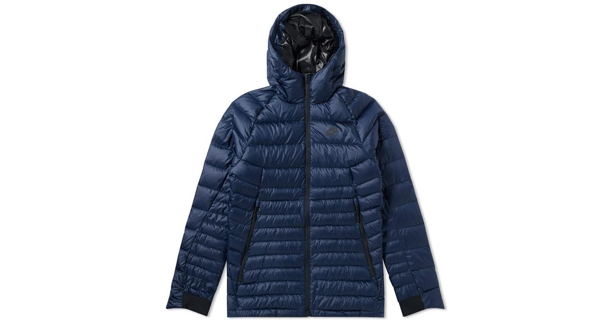 Nike Guild Hooded Down Jacket in Blue for Men - Lyst 5a78214f6
