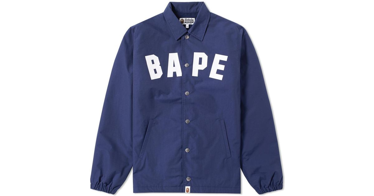 5a2696dab02e Lyst - A Bathing Ape Bape Coach Jacket in Blue for Men