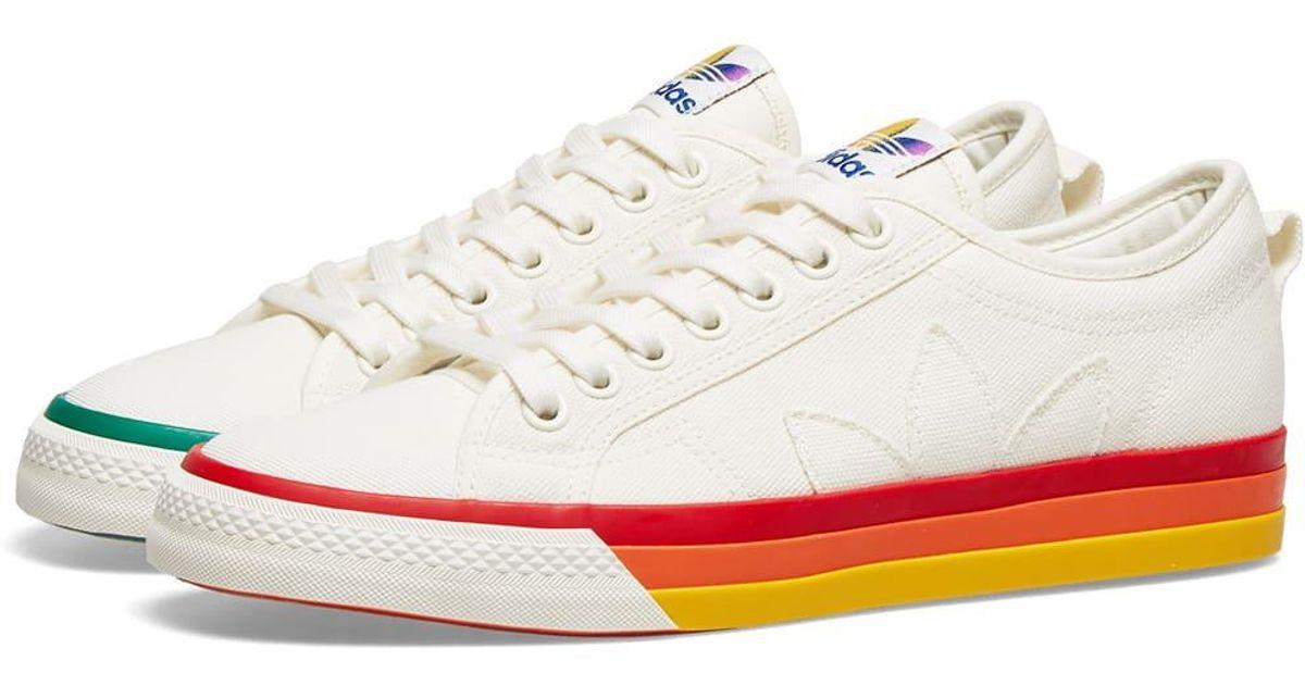 Adidas White Nizza Pride for men