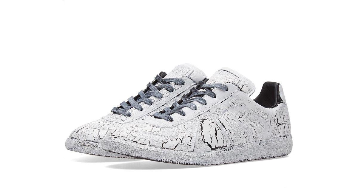 Lyst maison margiela 22 replica low cracked sneaker in for Maison margiela 22