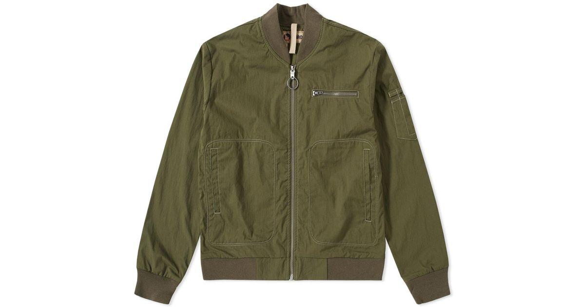 65bdbb14ec79 Nigel Cabourn Lybro Rats Bomber Jacket in Green for Men - Lyst