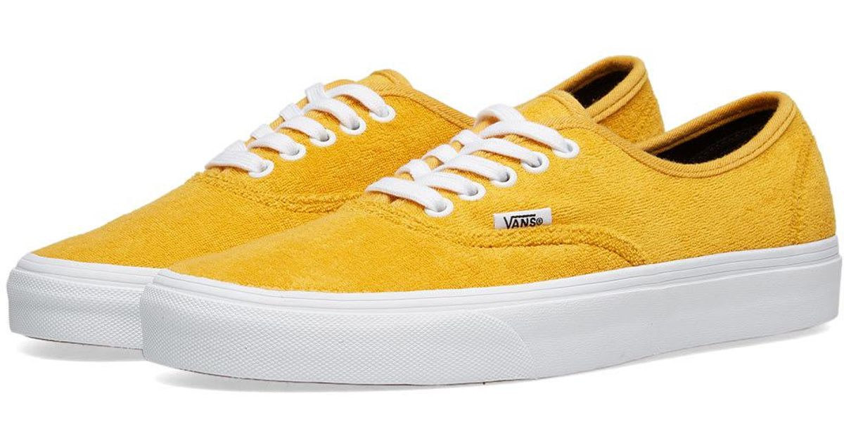 0ed448c2ec Vans Authentic Terry in Yellow for Men - Save 15% - Lyst