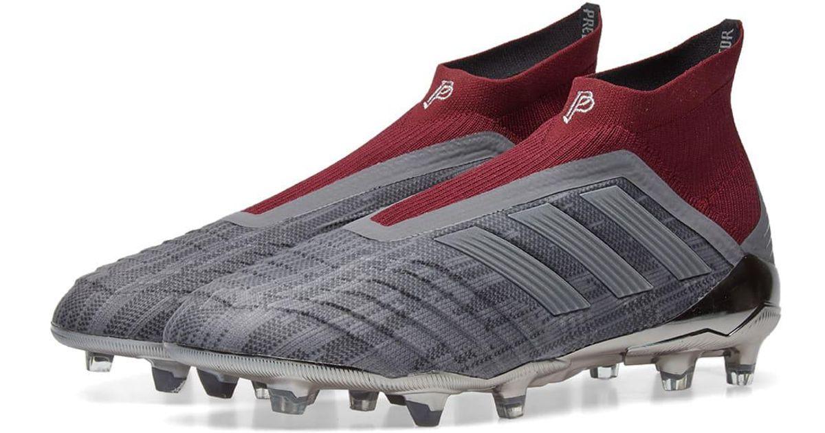 a1fc7594a376 adidas x paul pogba predator 18+ fg in gray for men - lyst