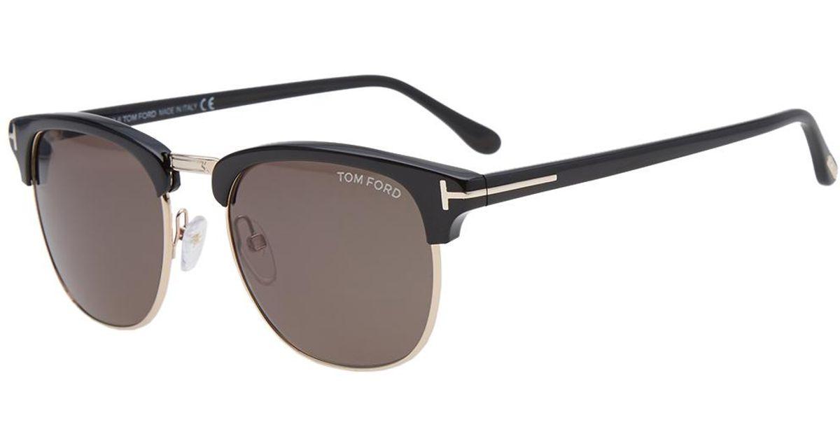 lyst tom ford tom ford ft0248 henry sunglasses in black. Black Bedroom Furniture Sets. Home Design Ideas