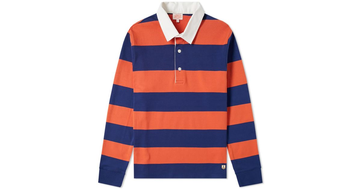 76886 Long Sleeve Stripe Rugby Shirt
