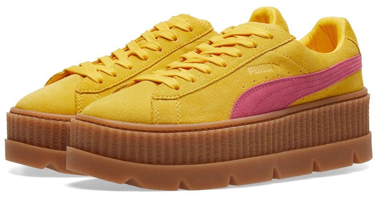 pretty nice 4f9a5 9559f PUMA Yellow X Fenty By Rihanna Cleated Creeper for men