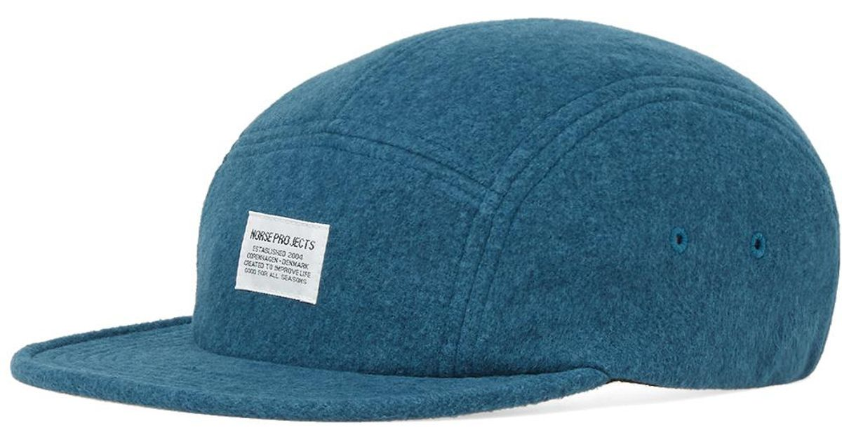 7b19c62eda3 Norse Projects 5 Panel Polartec Cap in Blue for Men - Lyst