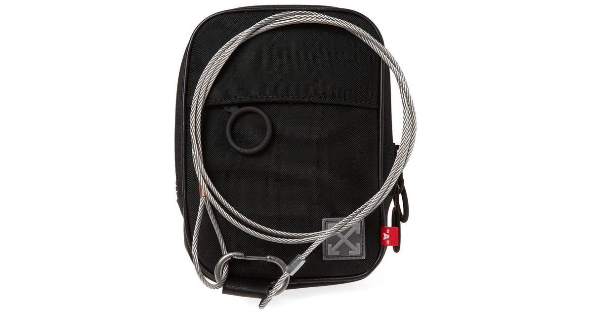9c720df0f5c Lyst - Off-White c o Virgil Abloh Tape Mini Crossbody Bag in Black for Men