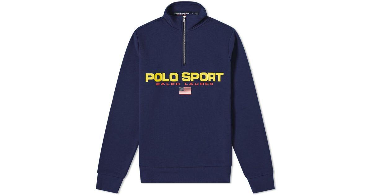 Polo Lyst Blue Ralph Zip Sweat 14 Men Lauren Sport For bfv6gY7y