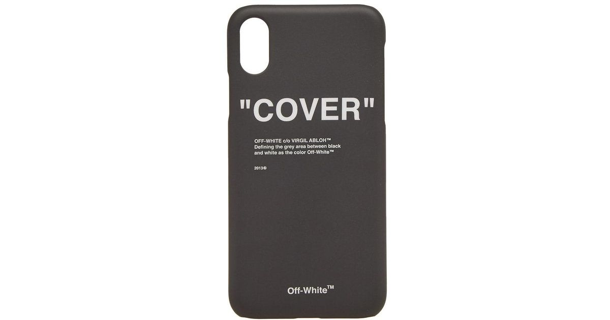 premium selection b352c 97e18 Off-White c/o Virgil Abloh Black Quote Iphone X Case