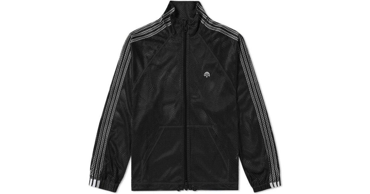 korkealaatuinen tehtaan aito superlaatu Alexander Wang Black Adidas Originals By Alexander Wang Mesh Track Top for  men