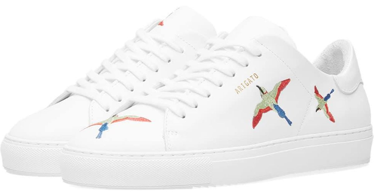 12a7618e699e2 Axel Arigato Clean 90 Bird Embroidery Sneaker W in White - Lyst