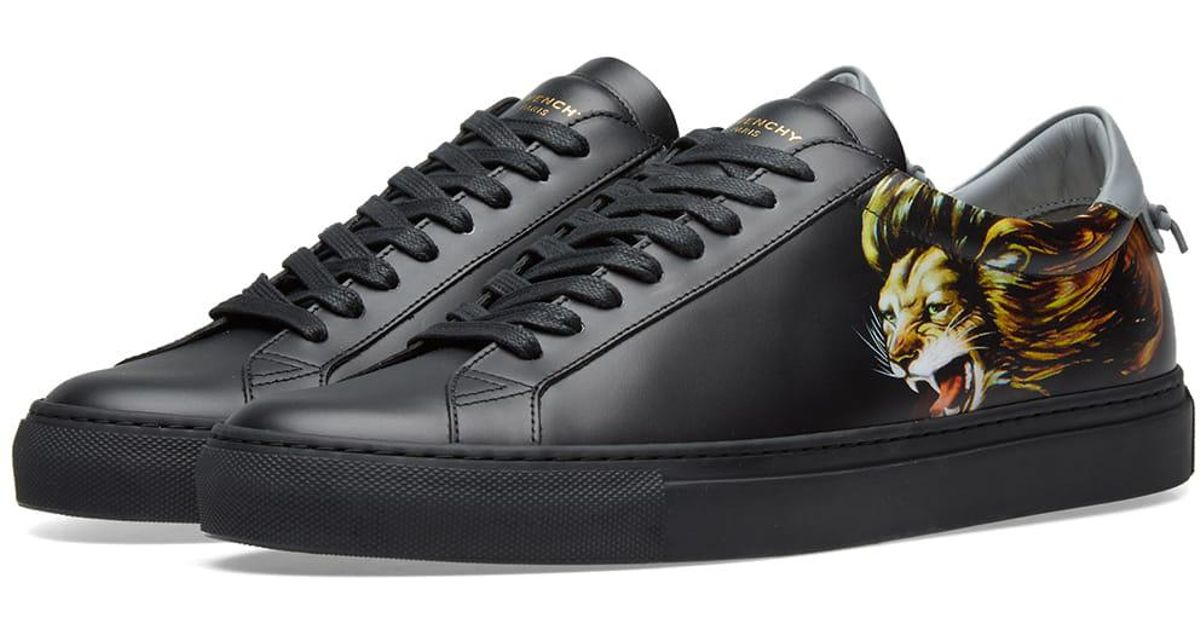 Givenchy Leather Leo Sneaker in Black