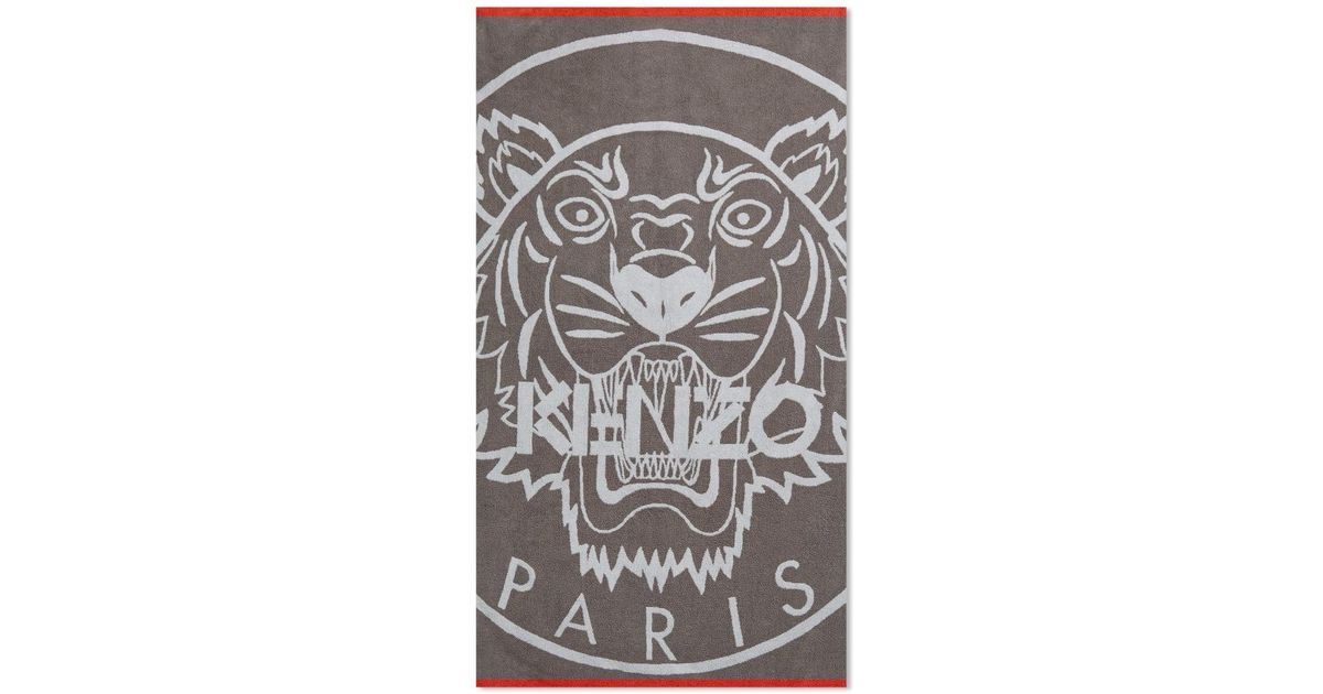 b4f8cd529b Lyst - KENZO Iphone Tiger Beach Towel in Gray for Men