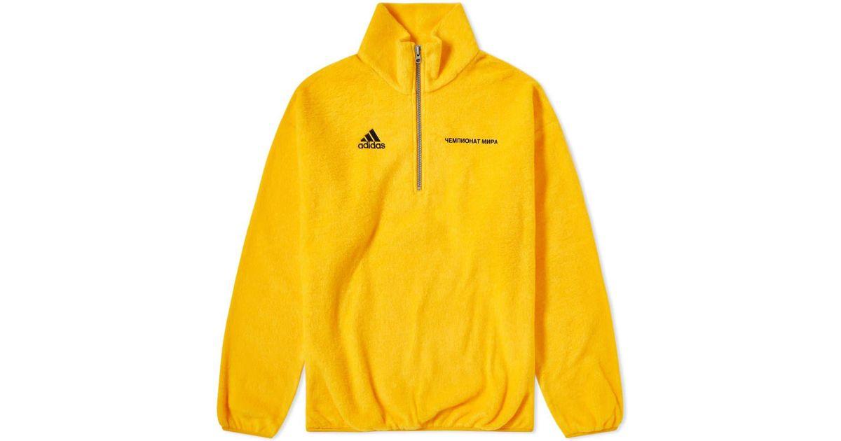 Gosha Rubchinskiy Yellow X Adidas Zip Fleece for men