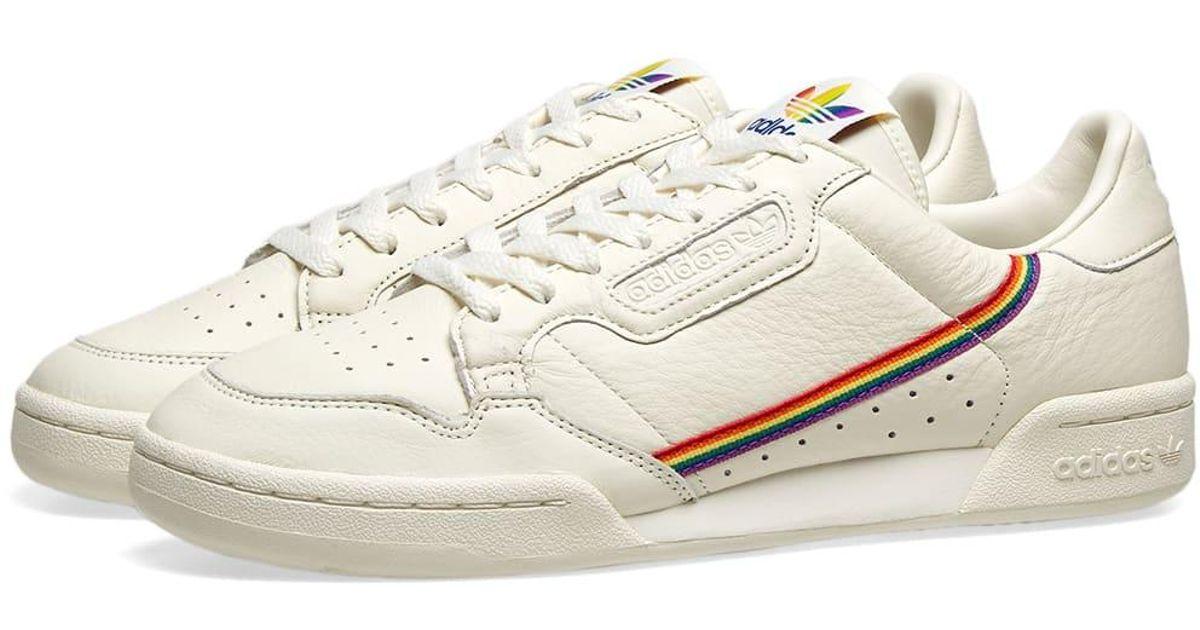 Adidas White Continental 80 Pride for men