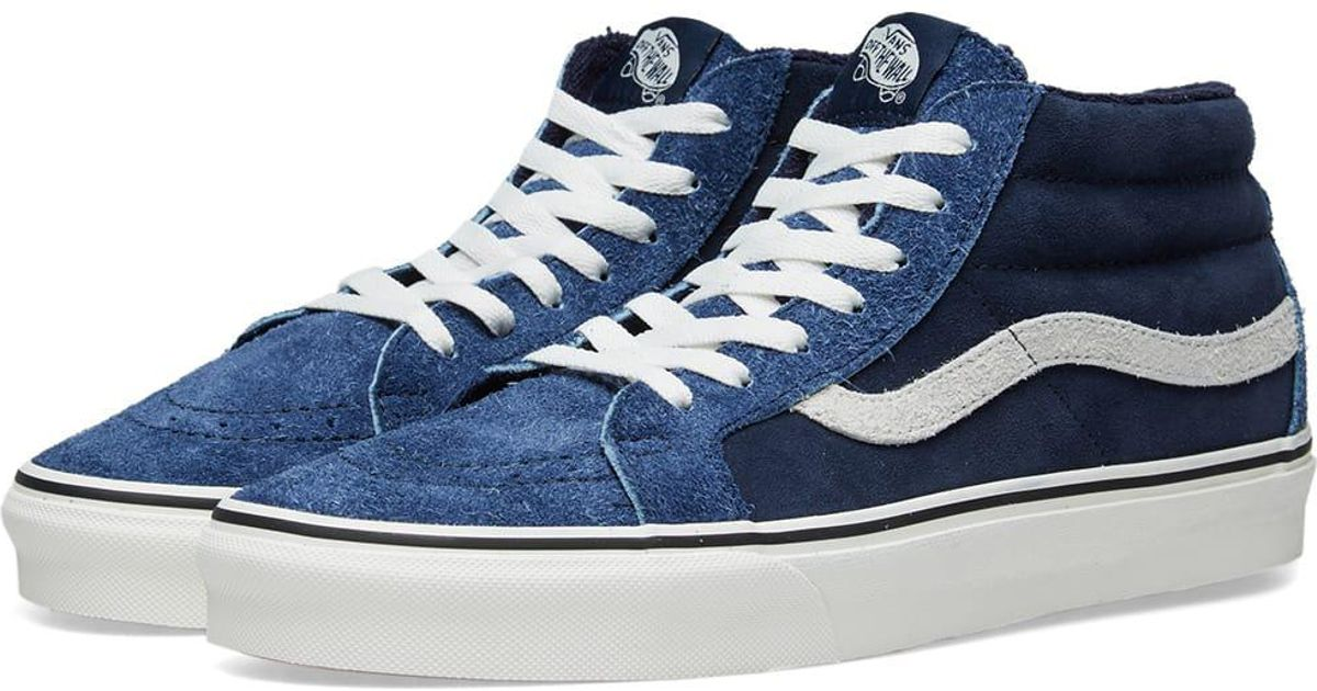Vans Blue Sk8-mid Reissue Hairy Suede for men