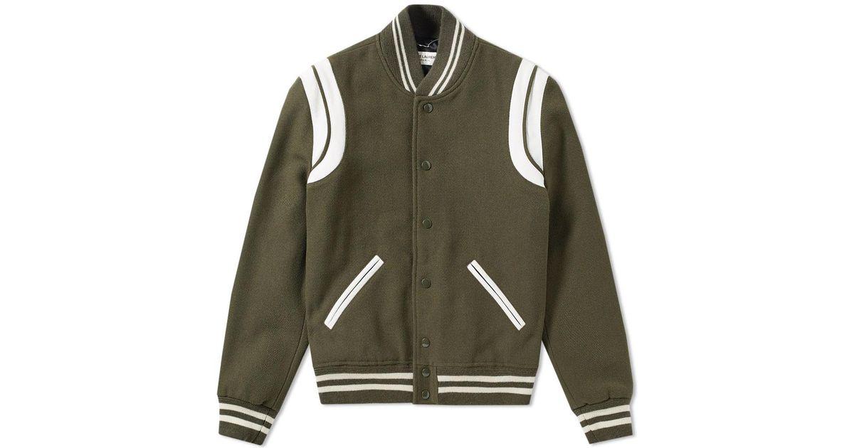 8cef07fd4 Saint Laurent Green Heavy Wool Teddy Jacket for men