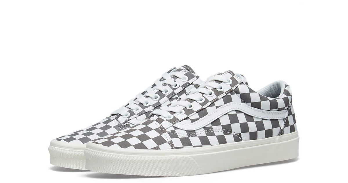 930313102c25 Lyst - Vans Old Skool Checkerboard Shoes in Gray for Men - Save 42%
