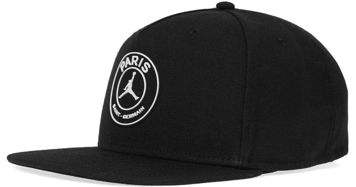 3c381961 Nike Black Jordan X Paris Saint-germain Pro Cap for men
