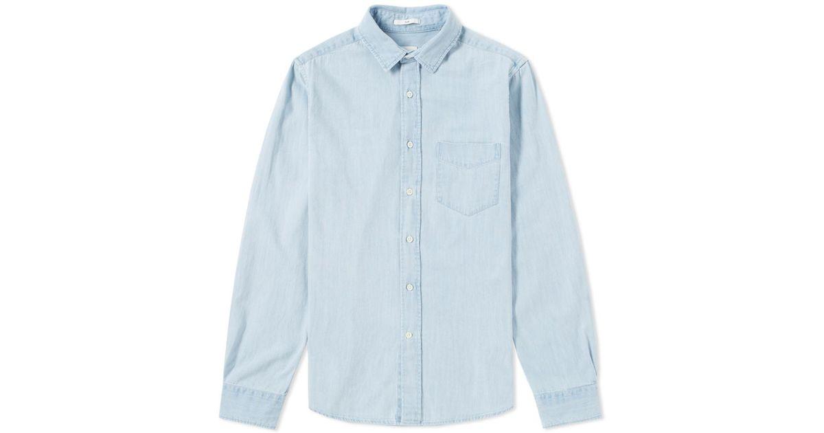 8b0e4832f10 Lyst - Gant Rugger Indigo Denim Shirt in Blue for Men