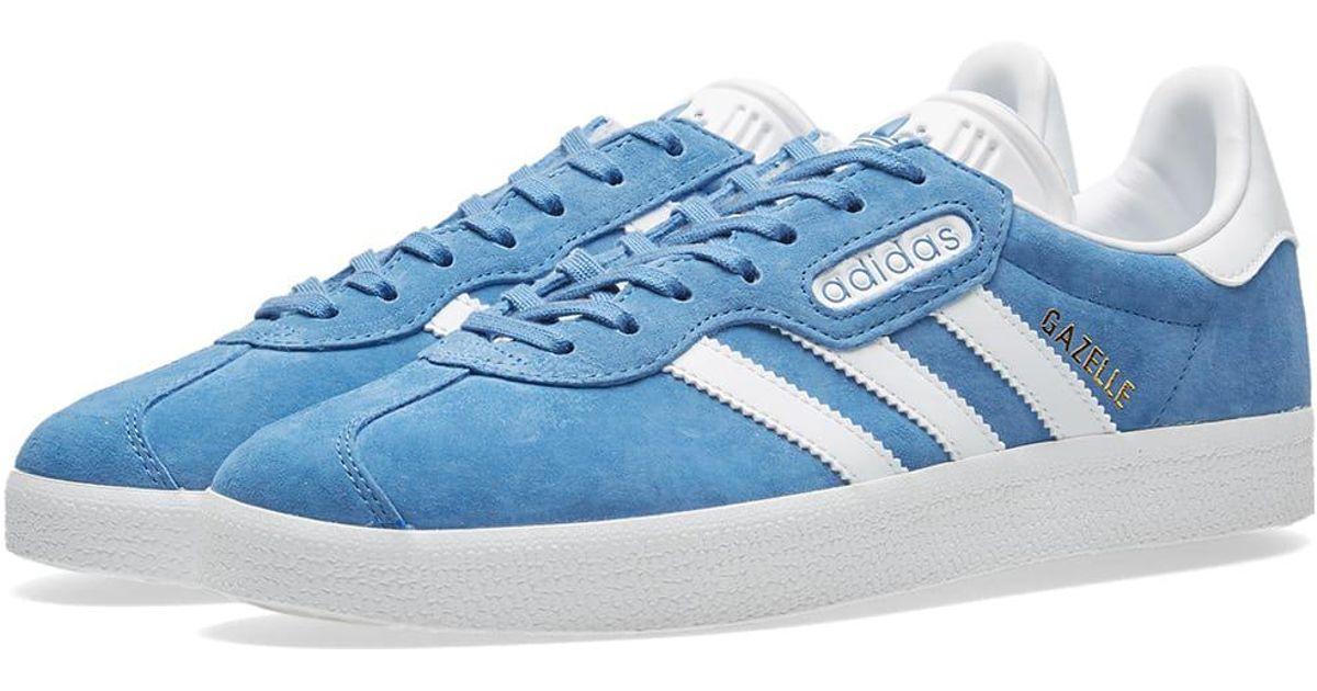 los angeles da0a6 a6628 ... spain lyst adidas gazelle super essential in blue for men cd45d 8b827