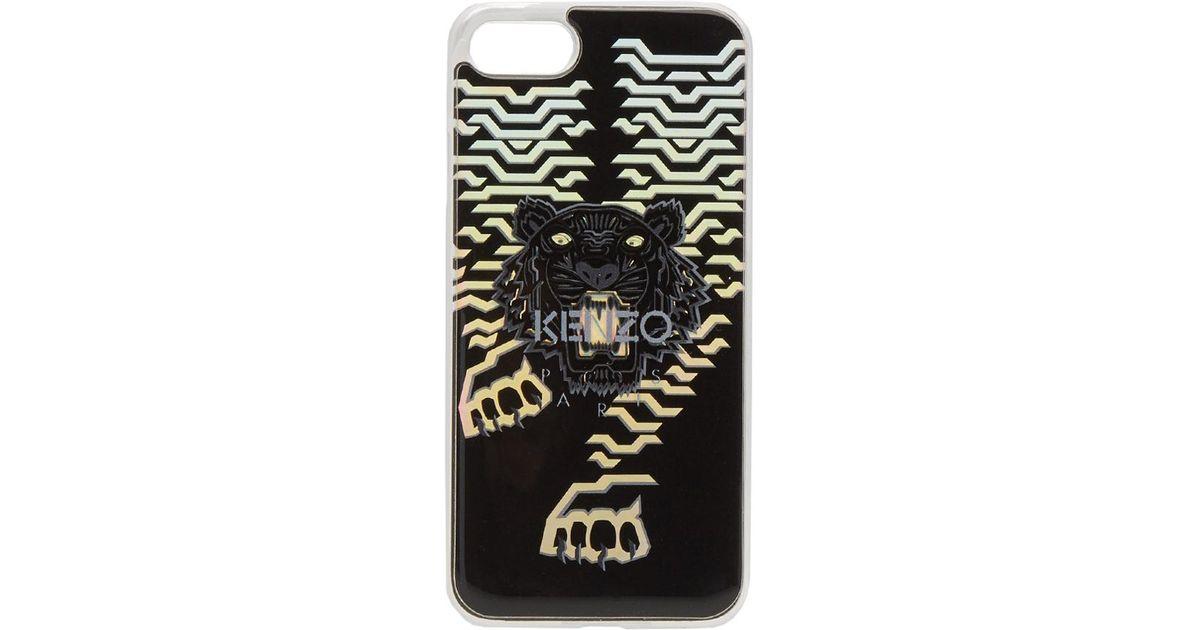 b2ca3aec KENZO Black Geo Tiger Iphone 7 Case