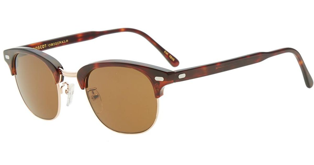 16e6529955 Moscot Yukel 48 Sunglasses in Brown for Men - Lyst