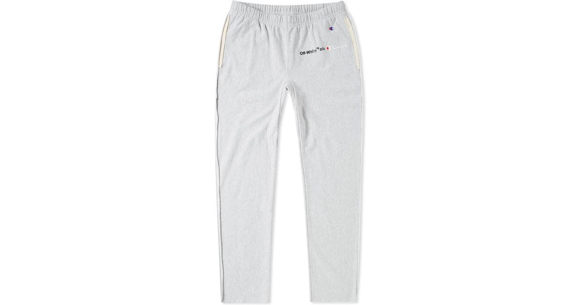 c2b44f78 Off-White c/o Virgil Abloh X Champion Sweat Pant in Gray for Men - Lyst