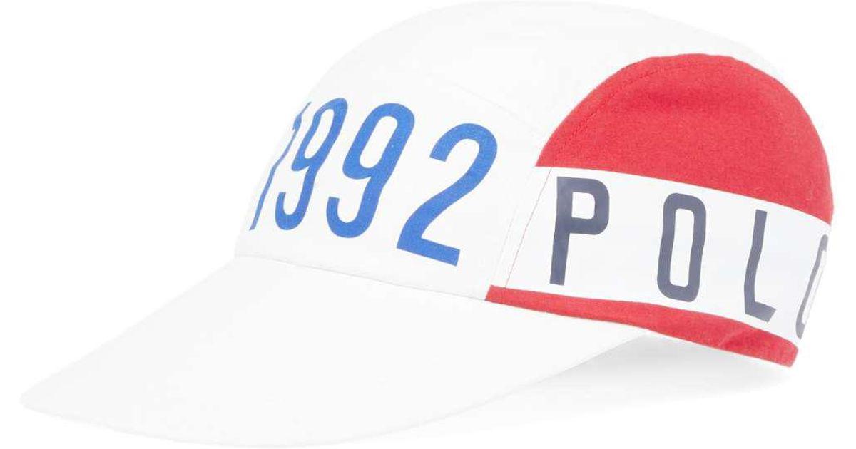 Lyst - Polo Ralph Lauren Stadium 1992 5 Panel Cap in White for Men 9f044e3601b