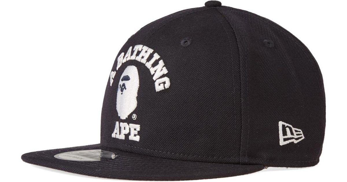 Lyst - A Bathing Ape New Era College Snapback Cap in Blue for Men 98a23eadccf