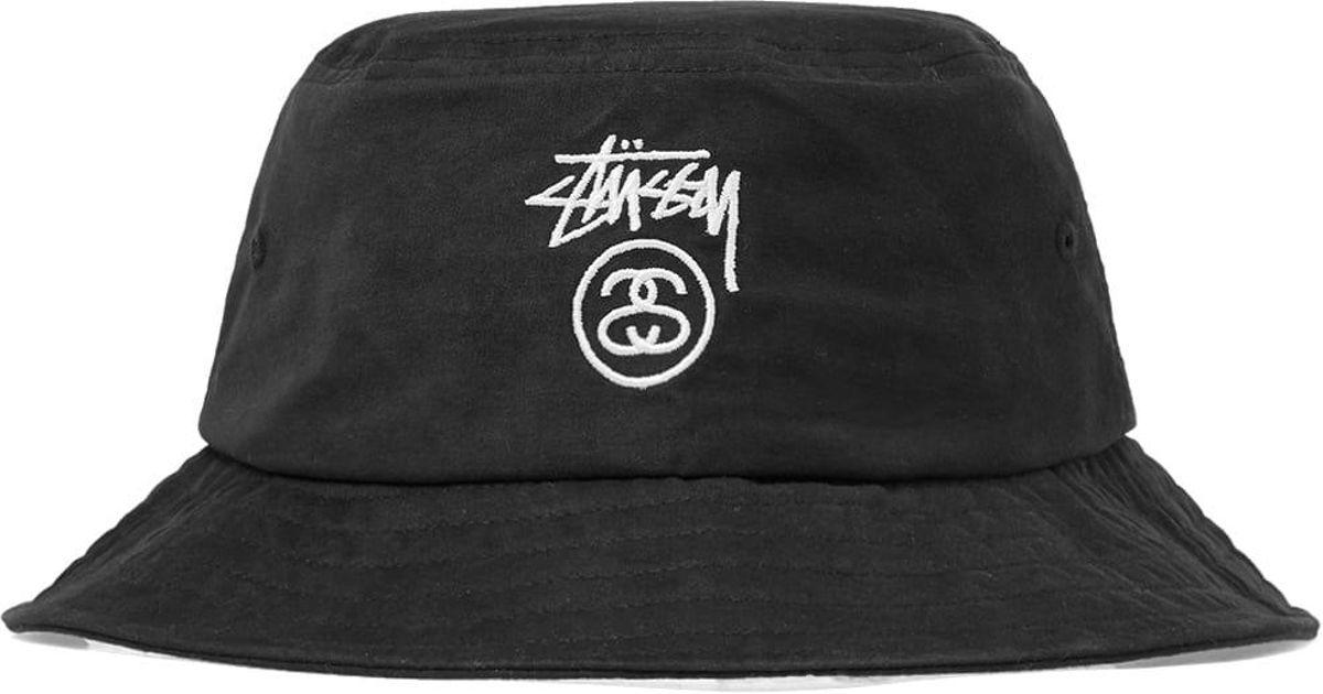 Lyst - Stussy Stock Logo Bucket Hat in Black for Men