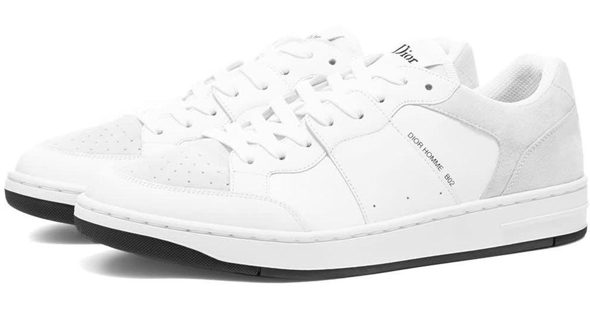 Dior Homme Leather B02 Sneaker in White
