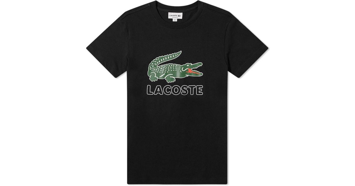 1b05ba54273 Image Source · Lacoste Big Croc Logo Tee in Black for Men Lyst