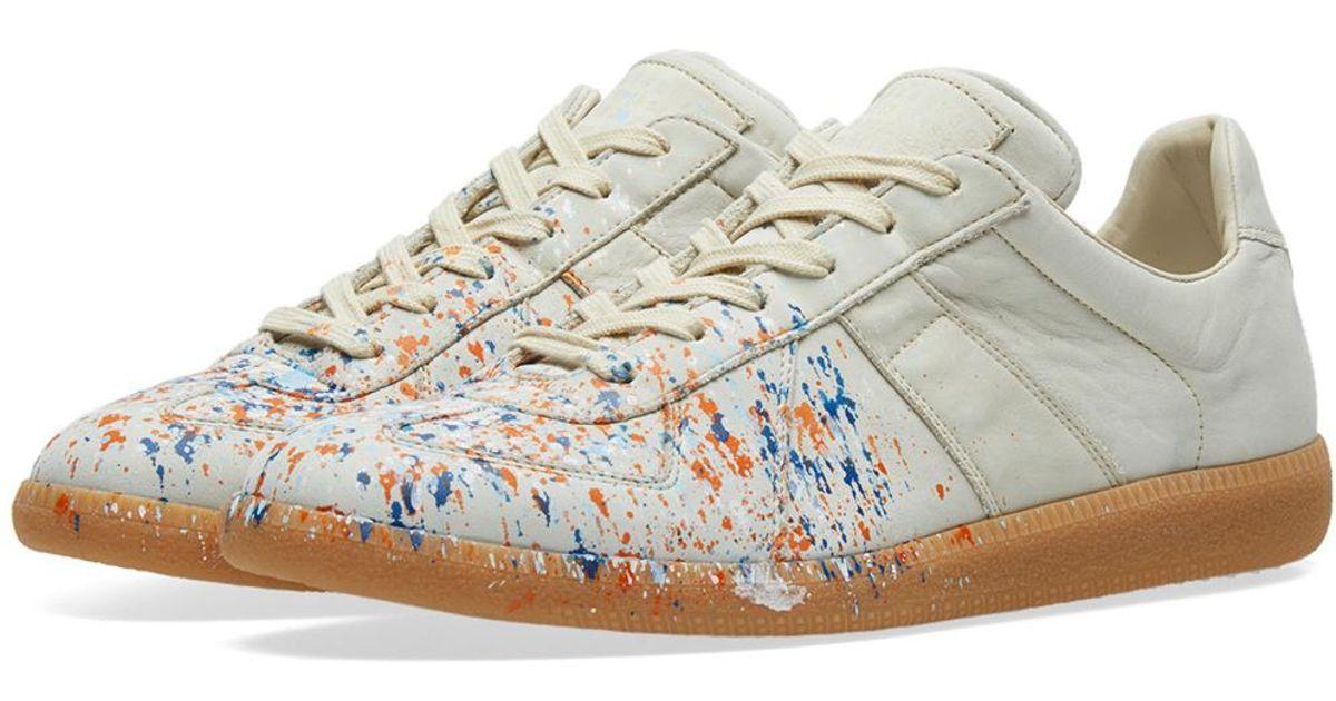 49fcac6186b Maison Margiela White 22 Paint Splash Replica Sneaker for men
