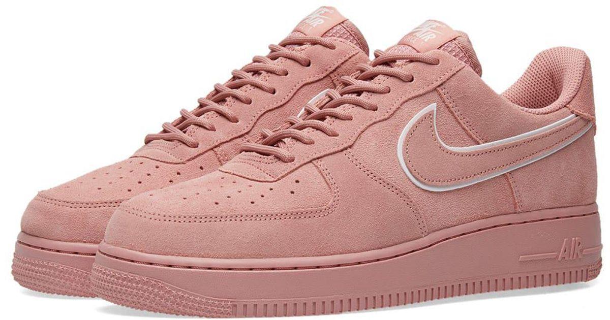 Nike Air Force 1 '07 Lv8 Suede in Pink