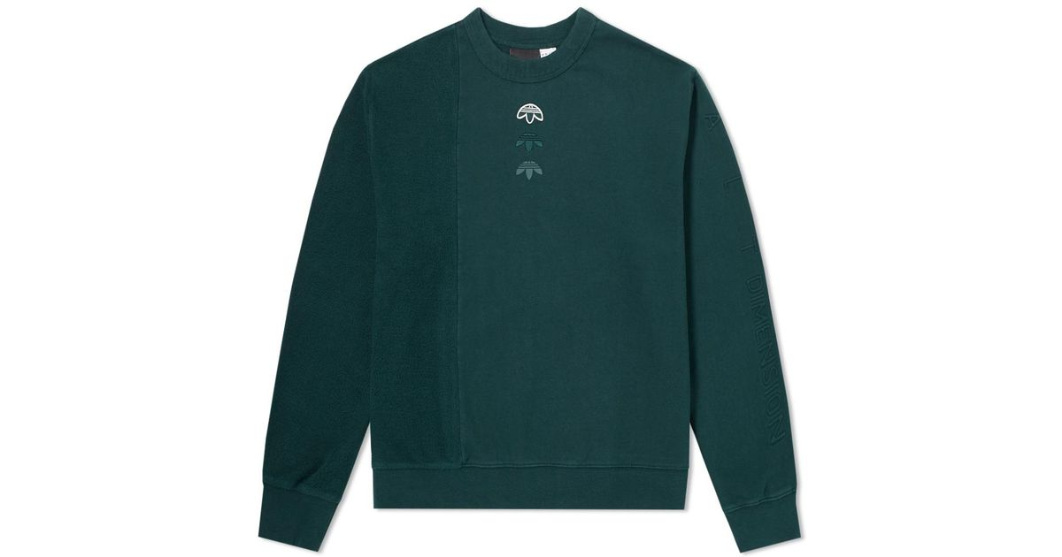 the latest new arrivals multiple colors Alexander Wang Green Adidas Originals By Alexander Wang Inout Crew Sweat Ii  for men