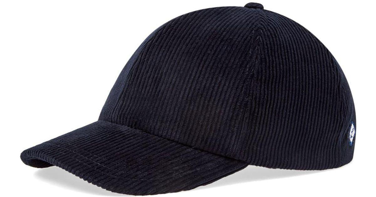 9c35bd30465 Larose Paris Corduroy Baseball Cap in Blue for Men - Lyst