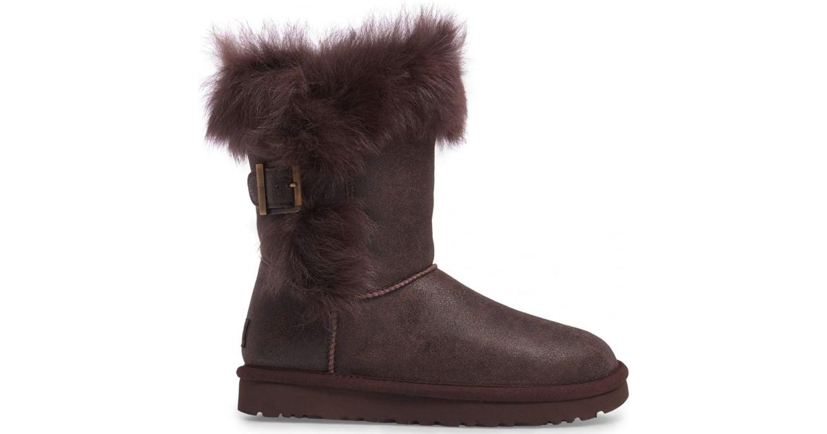 0d39ce931b3 Ugg Brown Deena Toscana Trimmed Boot
