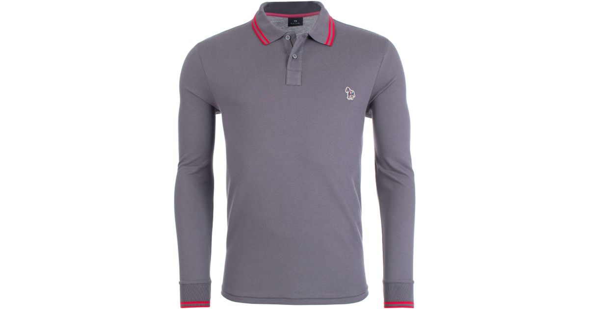 af8640e11 Paul Smith Long Sleeved Tipped Polo for Men - Lyst