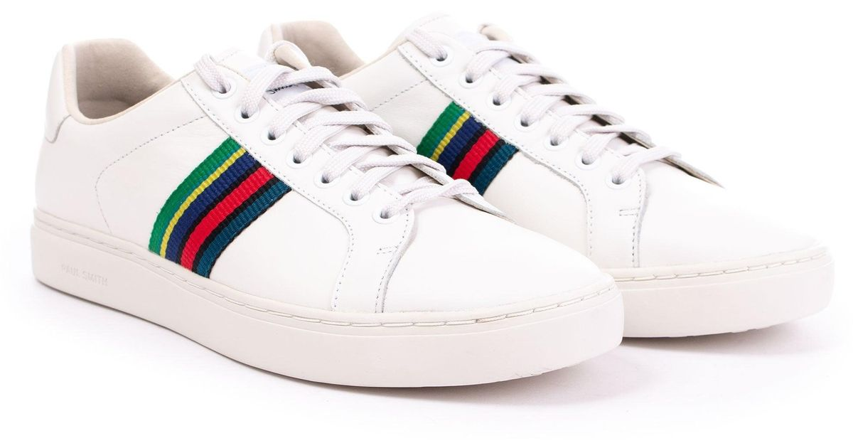 3494ef6fc7 Paul Smith White Calf Leather Lapin Trainers for men