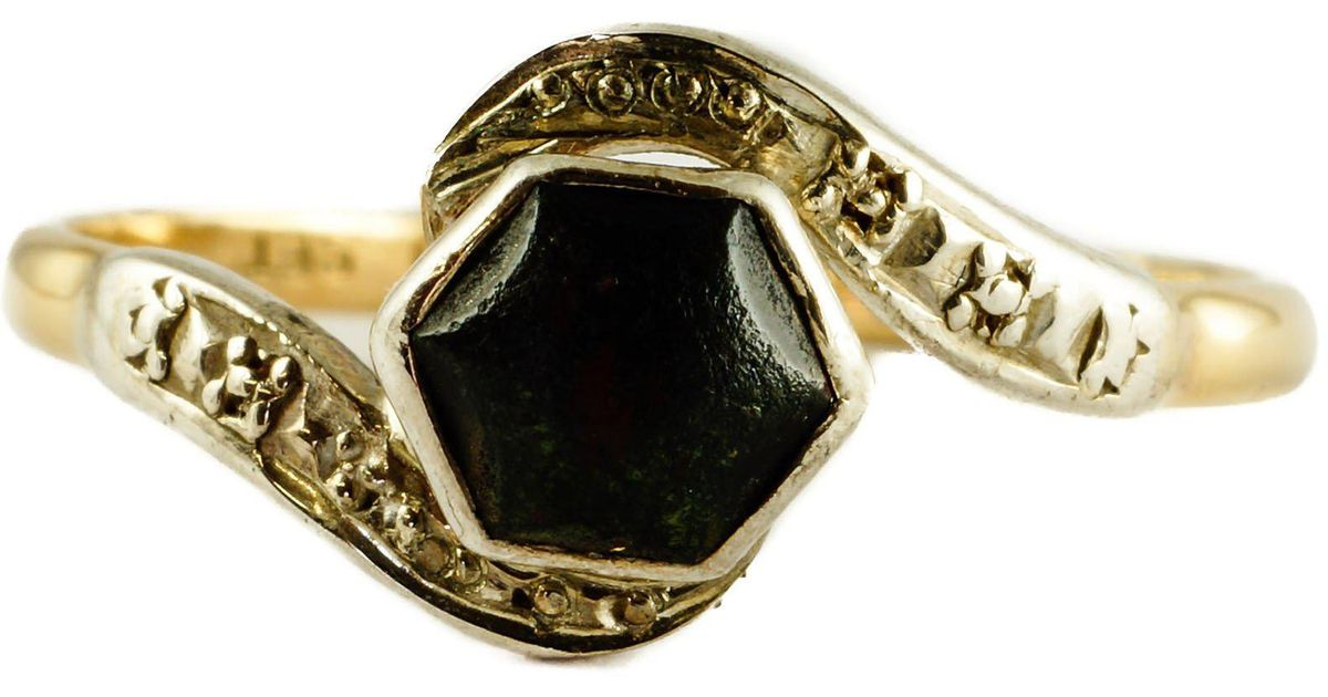 Erica Weiner Multicolor Edwardian Bloodstone Ring